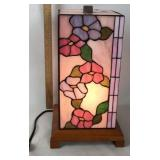 Tiffany style stain glass night light table lamp