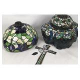 Assorted lot Tiffany style Damaged glass
