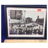 Framed Photo of JFK Funeral in Washington