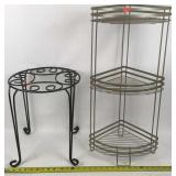 Two Metal Plant Stands