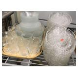 Huge Offering of Clear Glass Dinnerware of