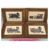 Set of 4 Framed Locomotive Lithographs