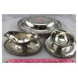 3 Silverplate Dishes