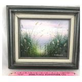 Original Oil on Canvas Painting of Beach Grass