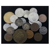 21 Canadian Coins - Various Dates