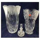 Waterford Lismore Perfume Bottle and 2 Large