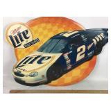 Miller Lite Rusty Wallace NASCAR Metal Sign