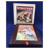Two Nostalgic Games in Wooden Boxes Plus Black