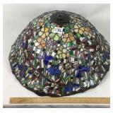 Large Tiffany style stained glass shade