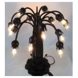 Beautiful trumpet globe shade style lamp