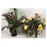 Two Home Interiors Potted Artificial Plants