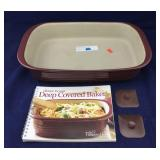 Pampered Chef Deep Covered Baker and Recipe Book