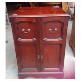 Vintagemahogany record cabinet