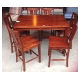 Bistro style dining table and chairs