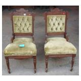 Pair of antique Eastlake Walnut chairs