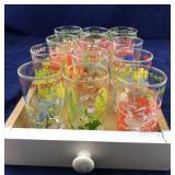 Drawer Full of 1970's Beverage Glasses