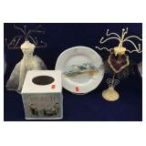 Dress Jewelry Stands, Seagull Plate & Tissue Cover