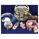 Buck Plate, Kitten Figures, Seahorse Sachet
