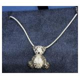 20 Inch Sterling Chain and Small Sterling Panda