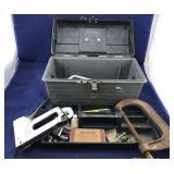 Plastic Tool Box Full of Miscellaneous Tools