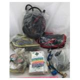 First Aid Kit and 3 Jumper Cables + More