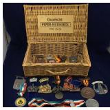 Champagne Basket with Volkswanderung Medals