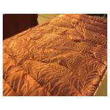 Dusky Pink Satin Down Comforter and Vintage