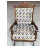 Eastlake Style Upholstered Rocker