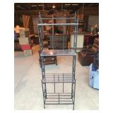 Metal Rack with Glass Shelves