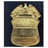 US Department of Defense Special Police Badge