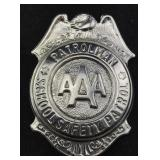 AAA School Safety Patrol Patrolman Badge