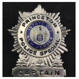 Princeton New Jersey Police Special Captain Badge