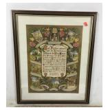 Framed Lord's Prayer/Ten Comandments Art