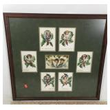 Framed Montage of Vintage Christmas Illustrations