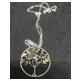 Labradorite Tree of Life Pendant on 24 Inch