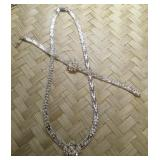Italian Sterling Silver Riccio Necklace and