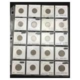 20 Buffalo Nickels - Various Dates