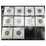 10 V Nickels / Liberty Nickels - Various Dates