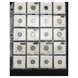 20 Silver Barber Dimes - Various Dates