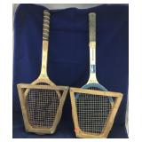 Pair of Vintage Tennis Racquets in Presses