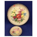 Rare 1 Large and 1 Small Vintage Bossons Plates
