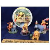 Pooh Statues and. a Limited Pooh Plate