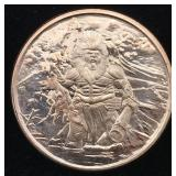 Behemoth 1 Oz. AVDP .999 Copper Bullion Round
