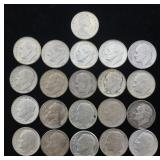 20 Silver Roosevelt Dimes & 1 Silver Canadian Dime