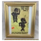 Black Memorabilia Print in Standing Frame