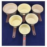 Vintage Enamelware Saucepan Set