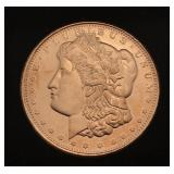 Morgan 1 Oz .999 Copper Bullion Round