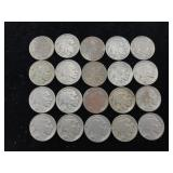 20 Buffalo Nickels - All 1936 or 1937