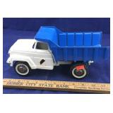 Vintage Blue and And White Die Cast Metal Hubley