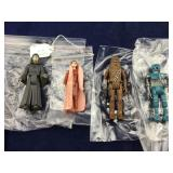 4 Small Jointed Vinyl Star Wars Figures